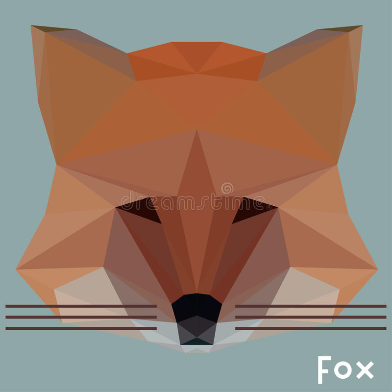 Fox poligonal libre illustration