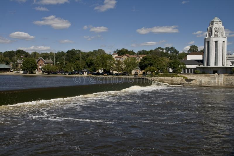 Download Fox River stock photo. Image of flow, cloud, falling, blue - 3462894