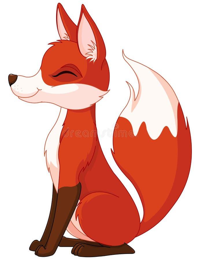 Fox rouge illustration stock