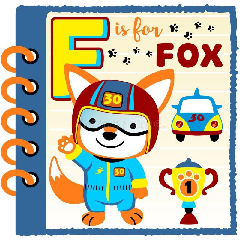Fox samochodowy setkarz ilustracja wektor