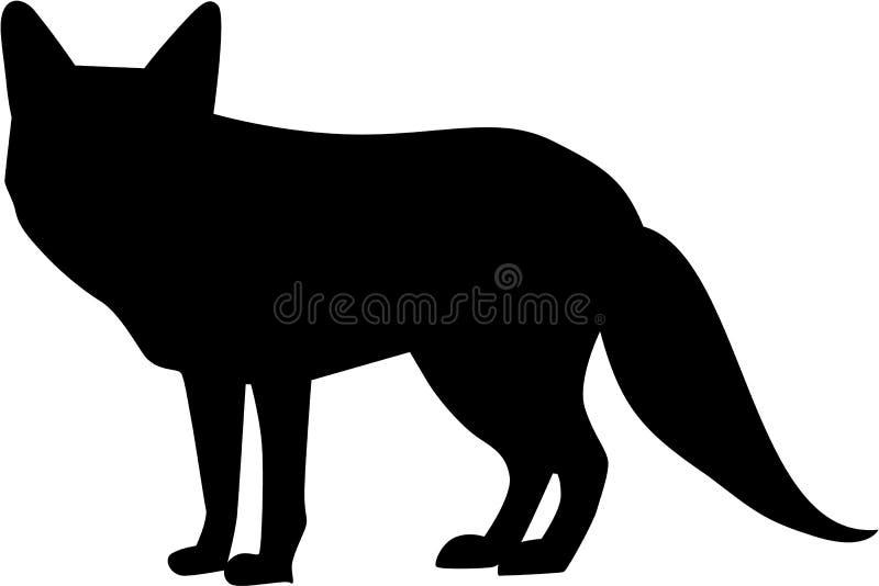 Fox silhouette vector. Fox silhouette foxy fur vector vector illustration