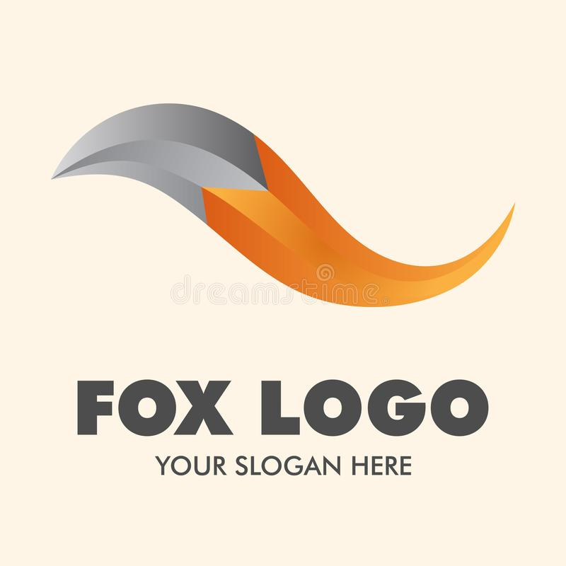Fox logo vector design inspiration. Fox are small-to-medium-sized, omnivorous mammals belonging to several genera of the family Canidae. Foxes have a flattened vector illustration