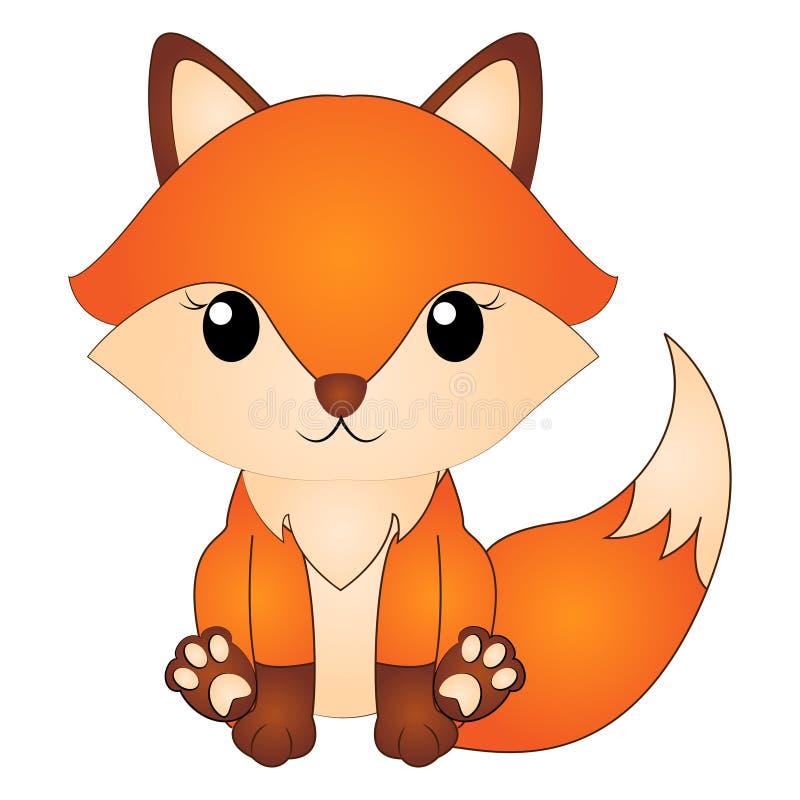 Fox sveglio del fumetto dell'illustrazione di vettore illustrazione di stock