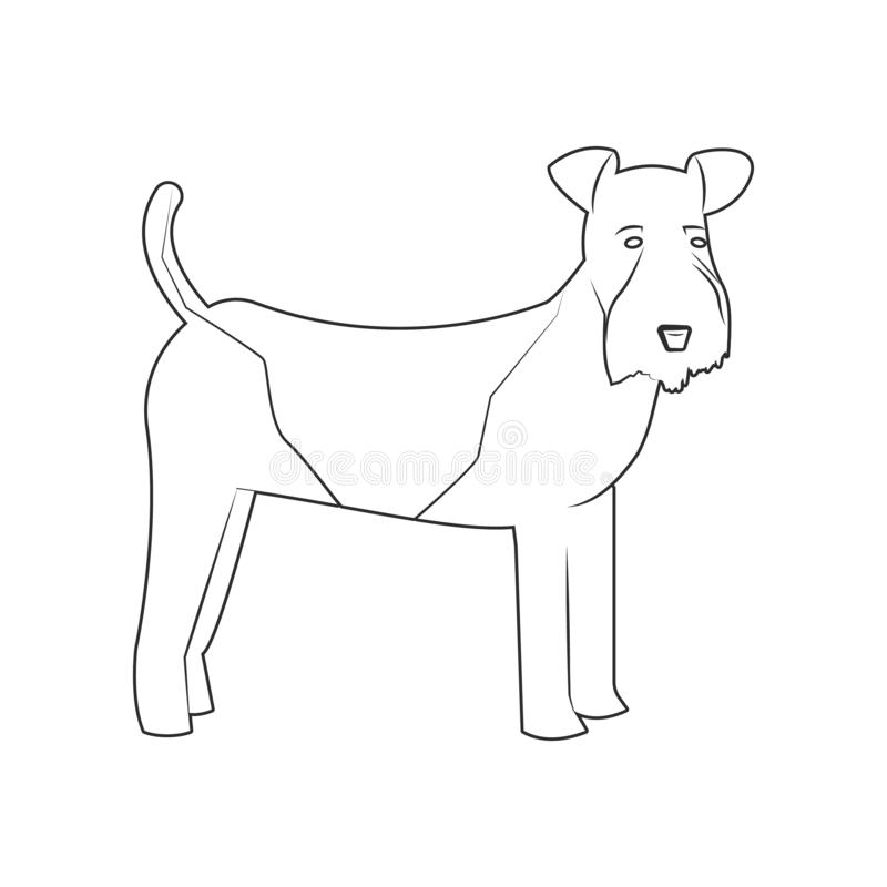 Fox Terrier dog icon. Element of dog for mobile concept and web apps icon. Outline, thin line icon for website design and vector illustration