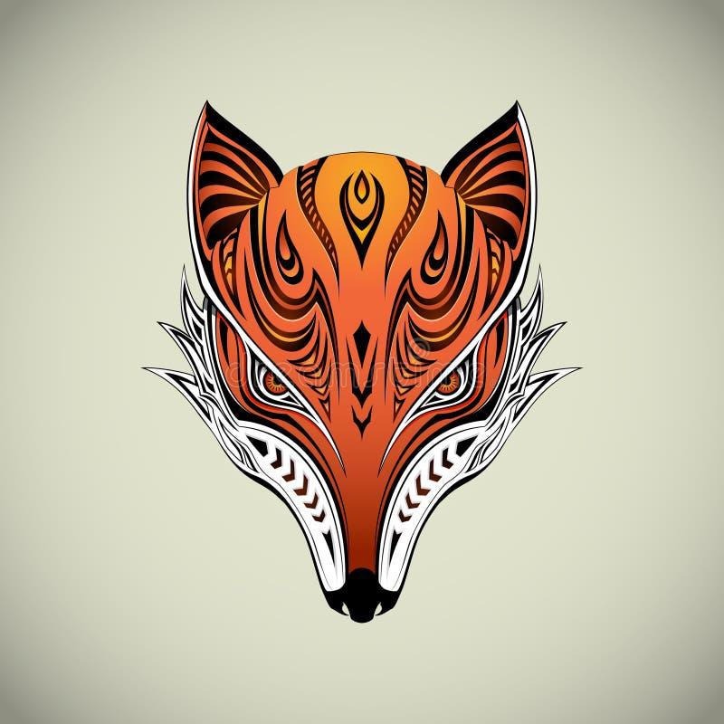 Fox tribal ilustración del vector