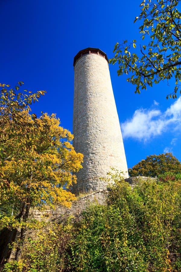 Fox-Turm von Jena an einem sonnigen Herbsttag lizenzfreie stockfotos
