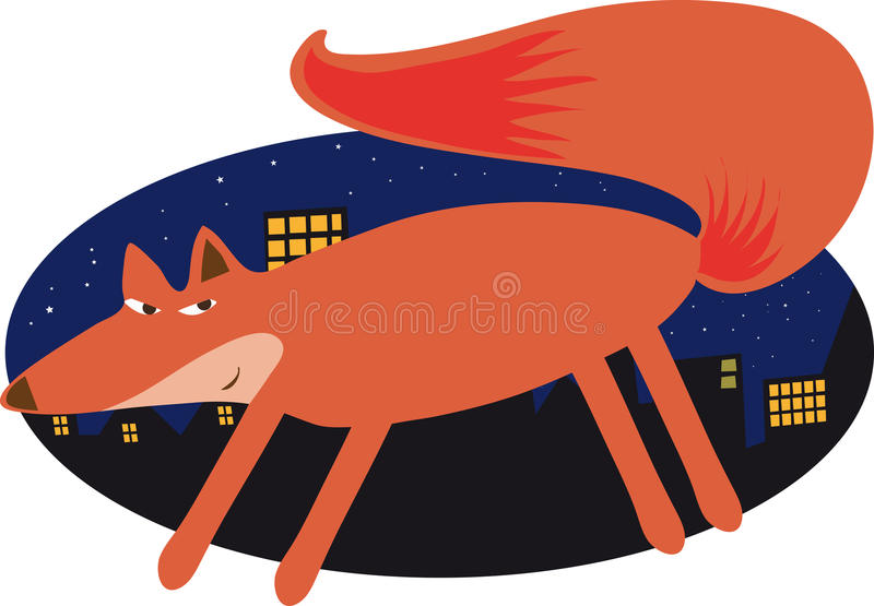 Fox urbain illustration libre de droits
