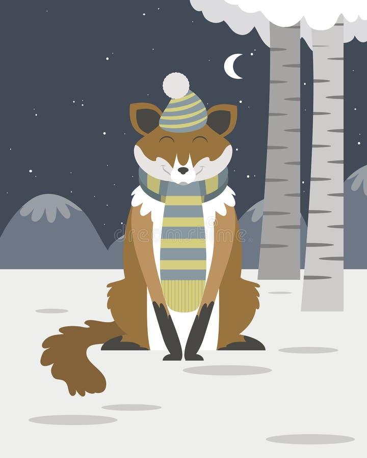 Fox w śniegu ilustracja wektor