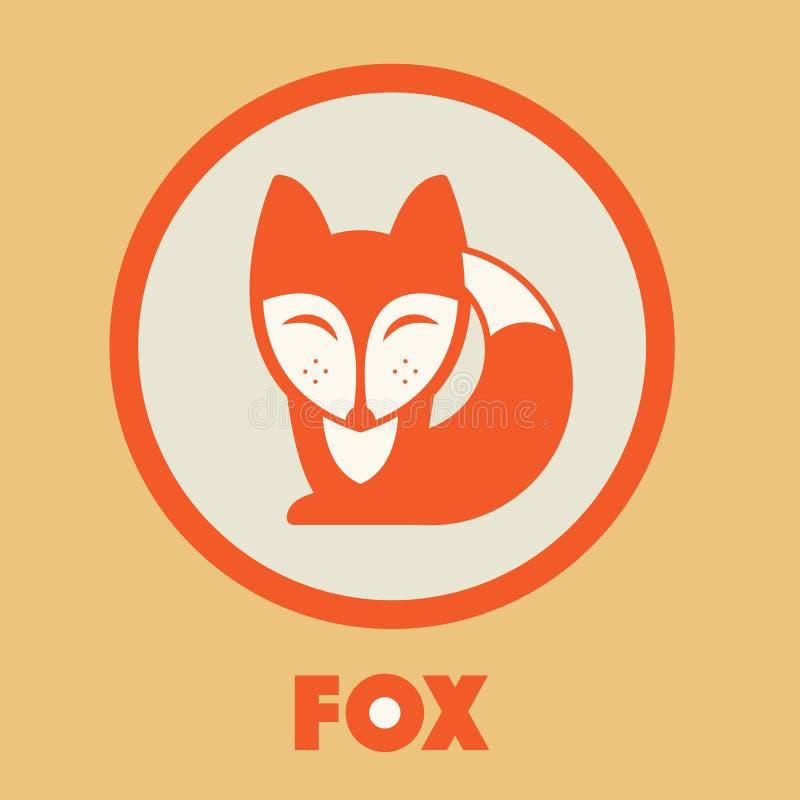 Fox wektoru ikona Fox projekt Fox mieszkanie royalty ilustracja