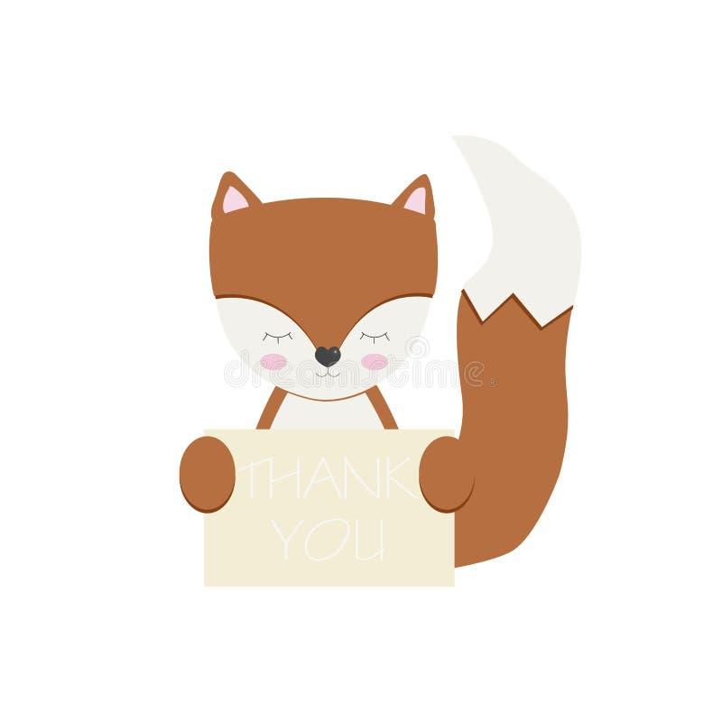 Fox z znakiem fotografia stock
