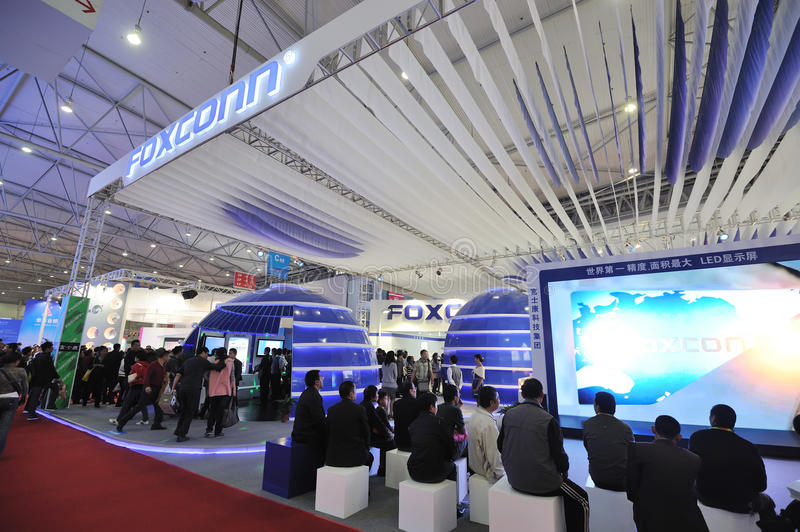 Foxconn booth stock image