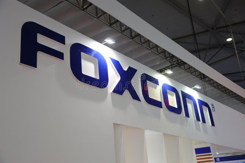 Foxconn booth logo stock photography