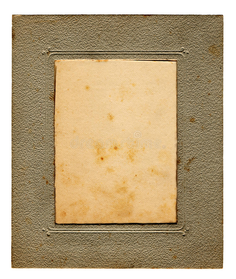Foxed vintage picture frame royalty free stock photography