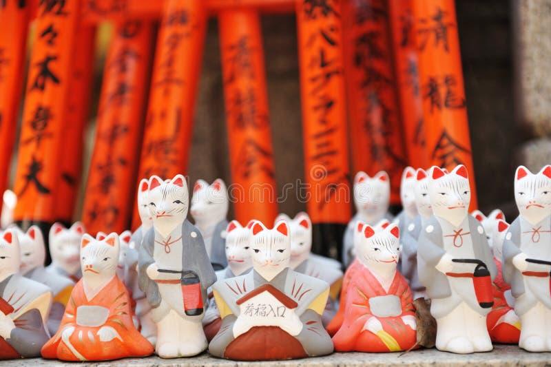 Download Foxes At Fushimi Inari Shrine Stock Photo - Image: 16215980