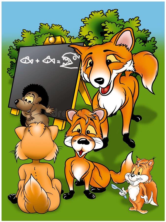 Download Foxes in School stock illustration. Image of hedgehog - 20774042