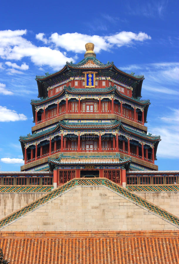 The foxiangge of Summer Palace stock photography
