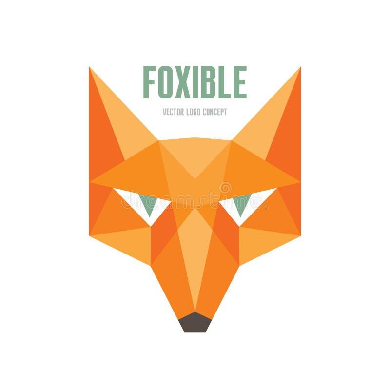 Foxible - concepto del logotipo del vector Ejemplo del vector de la cabeza del Fox Plantilla del logotipo del vector de la cabeza stock de ilustración