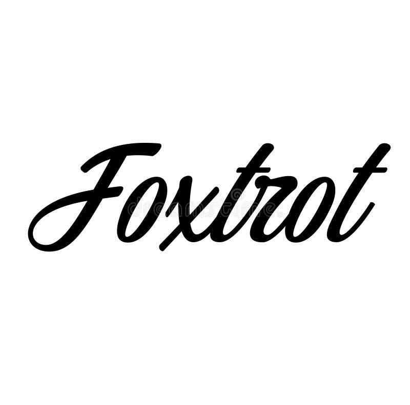 Foxtrot Aufkleber, Stempel lizenzfreie abbildung