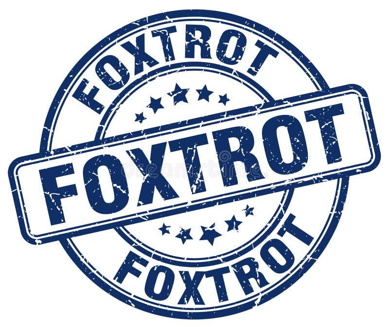 foxtrot blauwe zegel vector illustratie