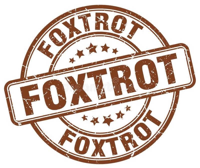 foxtrot bruine zegel royalty-vrije illustratie