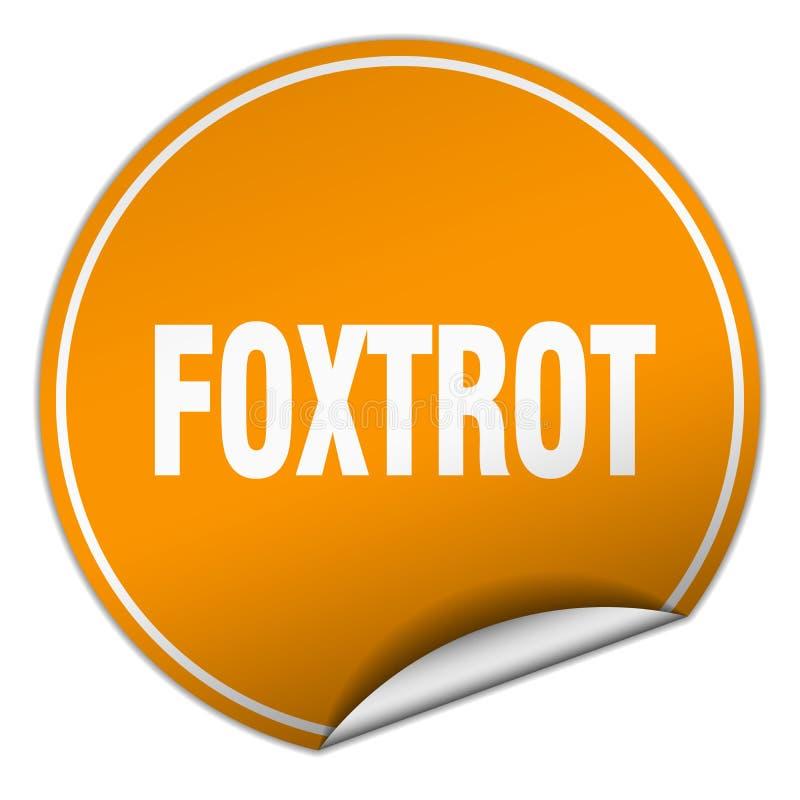 foxtrot sticker stock illustratie