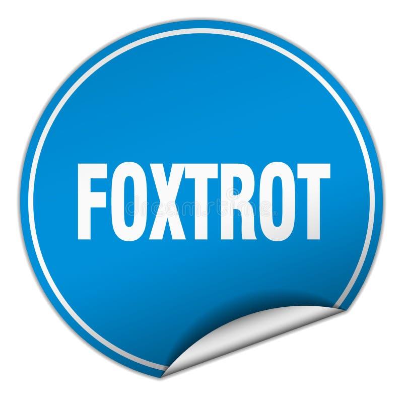 foxtrot sticker royalty-vrije illustratie