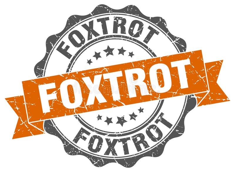 foxtrot verbinding zegel vector illustratie