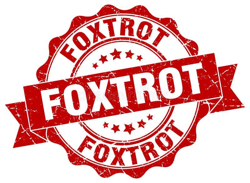 foxtrot verbinding zegel royalty-vrije illustratie