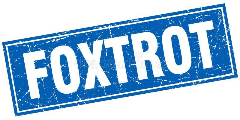 Foxtrotzegel stock illustratie