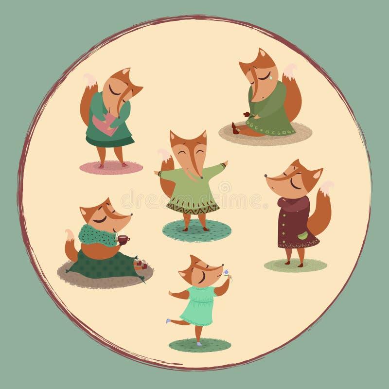 foxy vector illustratie