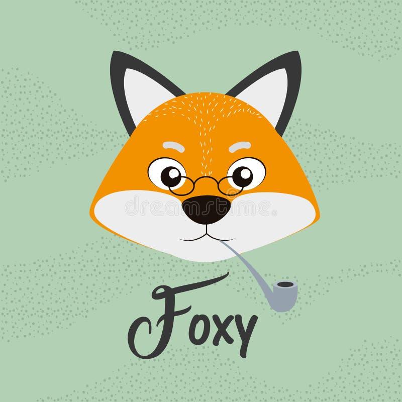 Foxy vos leuk beeldverhaal vector illustratie