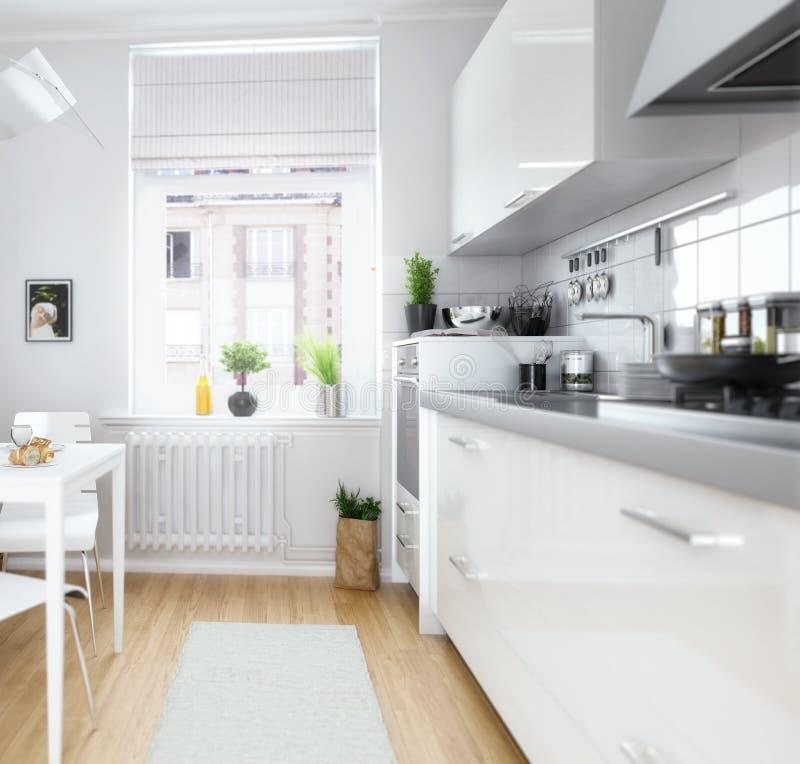 Foyer adapté mignon de cuisine illustration de vecteur