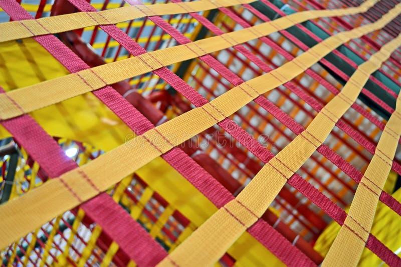 Ceintures textiled par résumé, grille industrielle, photographie stock libre de droits