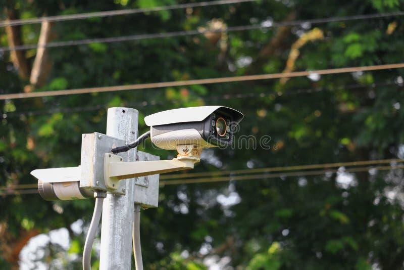 Foyer choisi d'appareil-photo de télévision en circuit fermé avec la profondeur du champ photographie stock