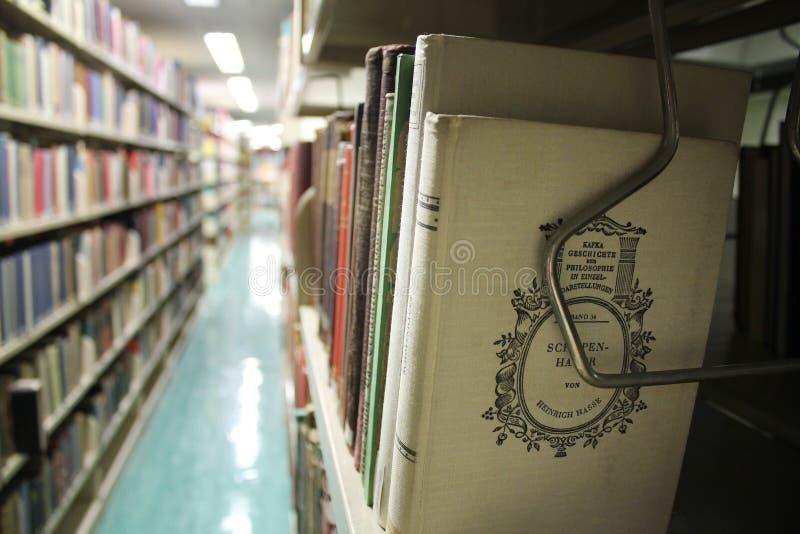 Foyer de bibliothèque sur Kafka photographie stock