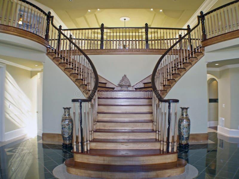 Foyer de caisse d'escalier image stock