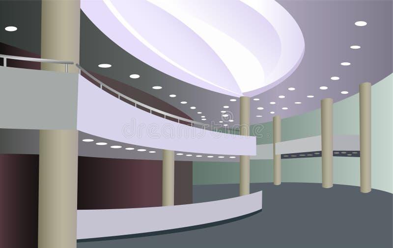 Foyer des Konzertsaals lizenzfreie abbildung