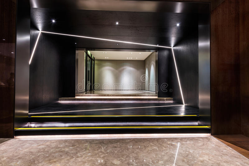 Foyer entrance area of a building royalty free stock photography