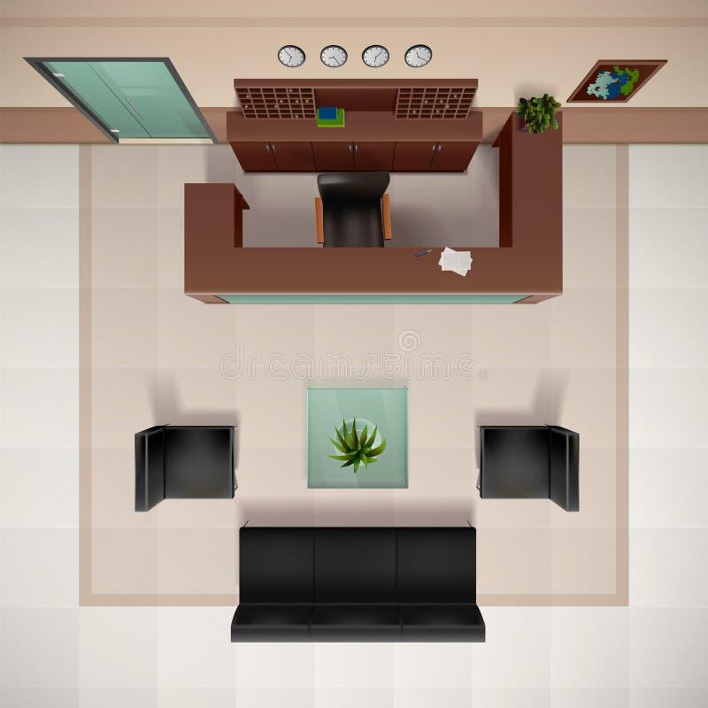 Foyer-Innenraum-Illustration stock abbildung