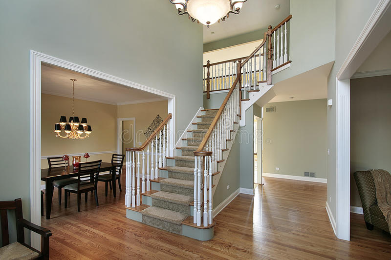 Cost Of Painting Two Story Foyer : Foyer in luxury home stock photo image of decorate