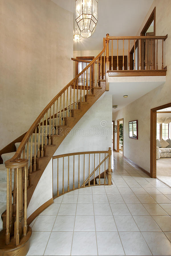 Foyer In Luxury Home Stock Photography