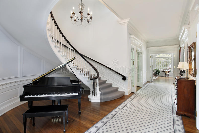 Luxury Home Foyer : Foyer in luxury home stock image of staircase