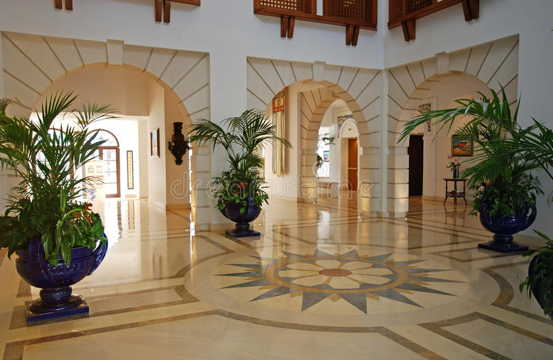 Foyer in luxury mansion royalty free stock images