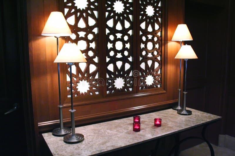 Foyer mit Kerzen lizenzfreie stockbilder