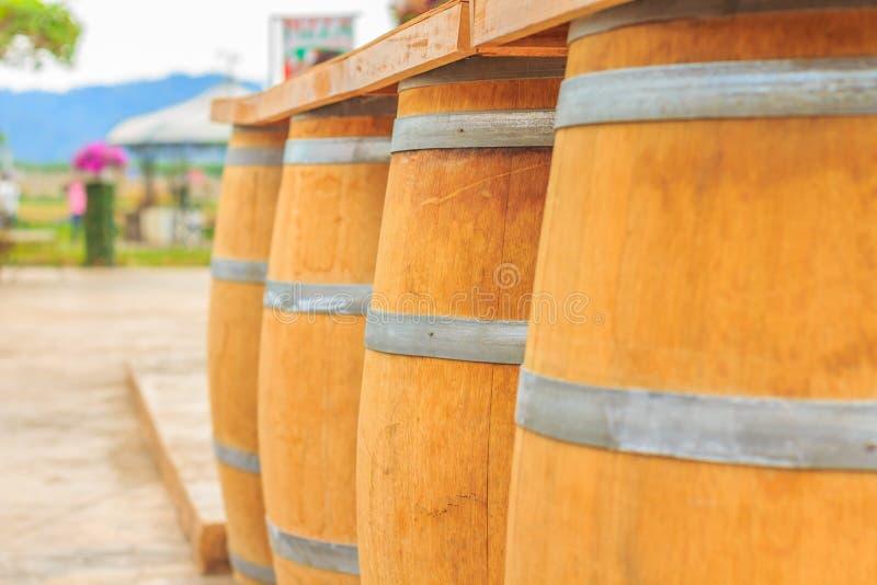 Foyer sélectif de barils en bois photos libres de droits