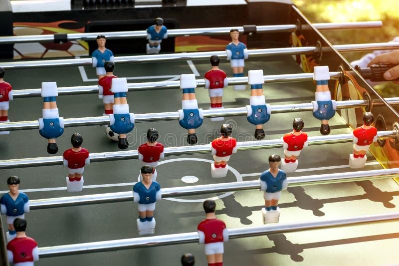 Foyer sélectif en gros plan de partie de football de Tableau photographie stock libre de droits