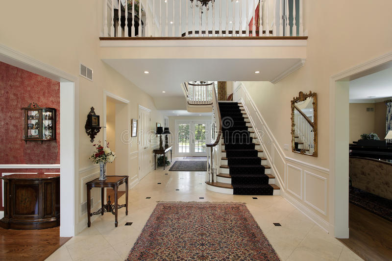 Large Foyer Xl : Foyer with second floor landing stock photo image of