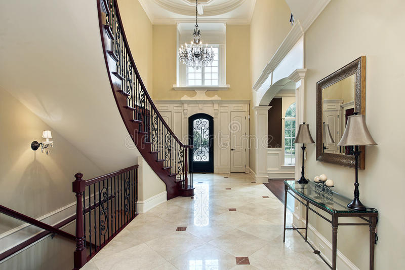 Download Foyer With Second Story Window Stock Photo - Image: 13458438