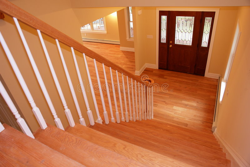 Foyer and stairs royalty free stock images