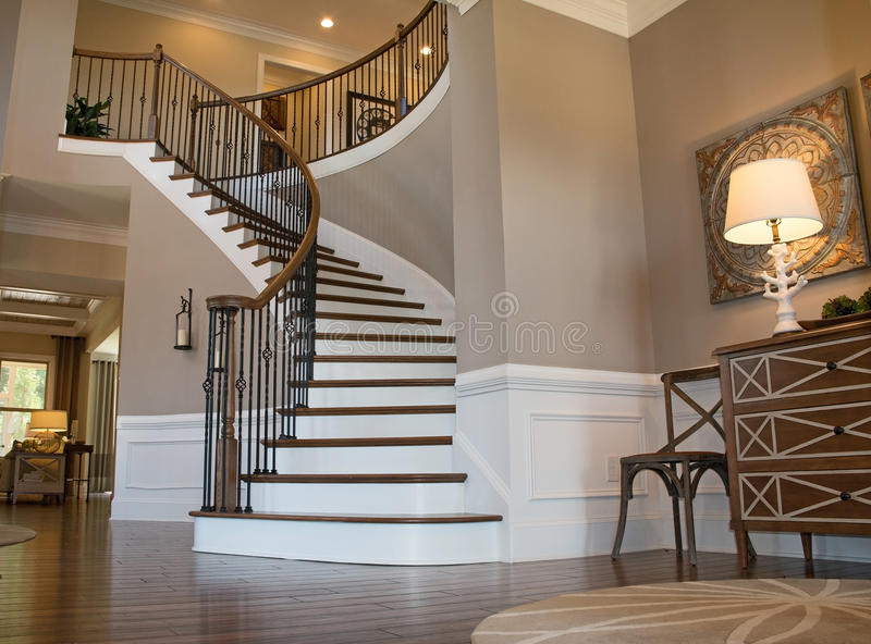 Foyer Stairs Reviews : Foyer stairs stock photo image of hardwood middleclass